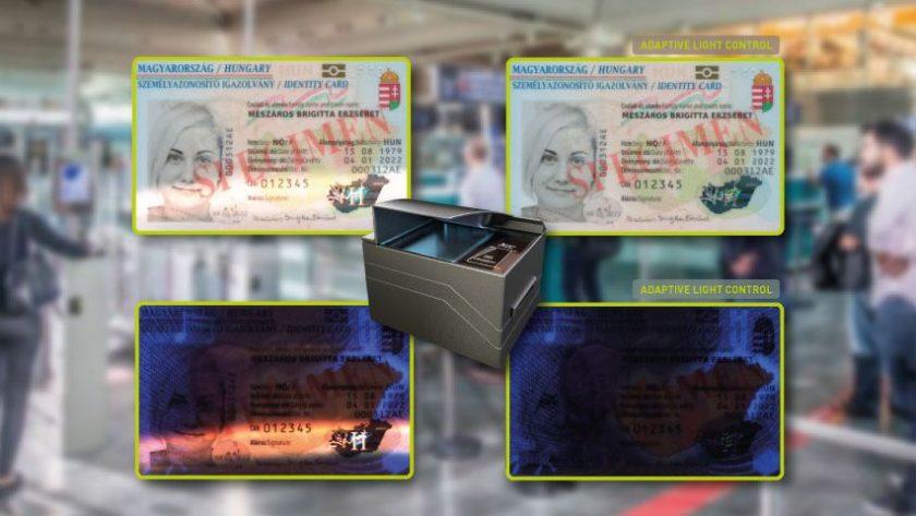 Adaptive Light Control for passport reading