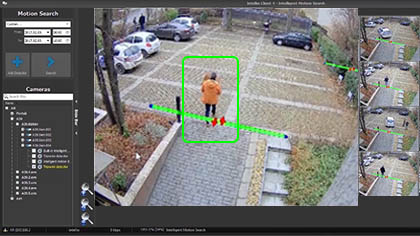 motion-based search in cctv records