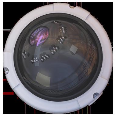 dome cctv camera with detectors