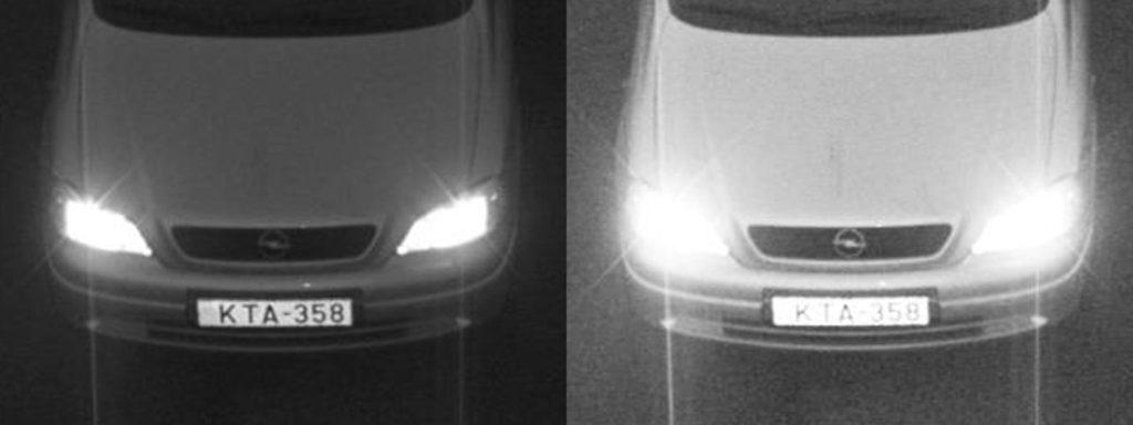 optimal vs overexposed imaging for ANPR