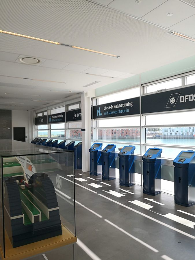 check-in kiosks with ID scanners