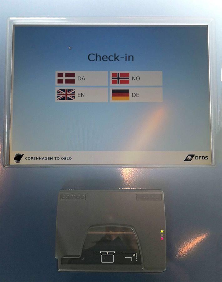 ID scanner integrated in kiosk