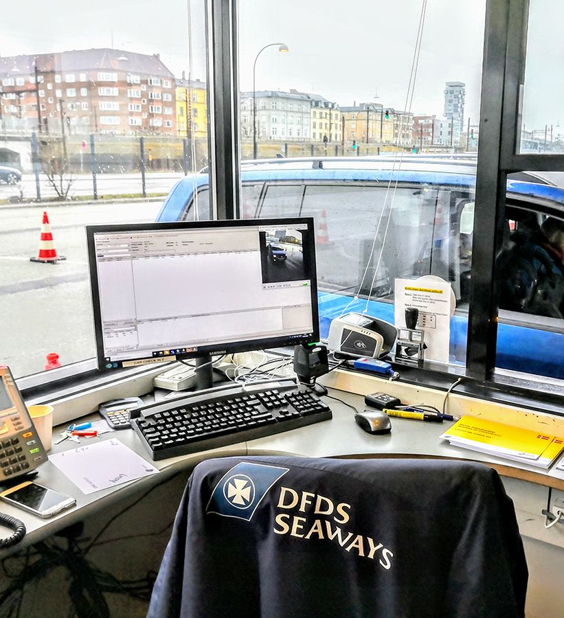 vehicle registration at DFDS