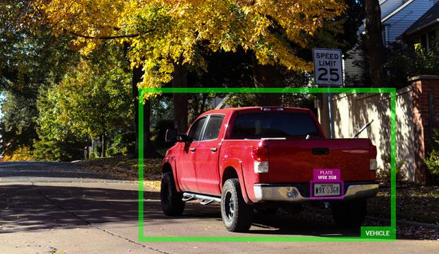 recognizing license plates in suburban area