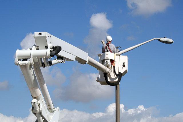 Maintenance of ANPR Camera From a Mobile Crane