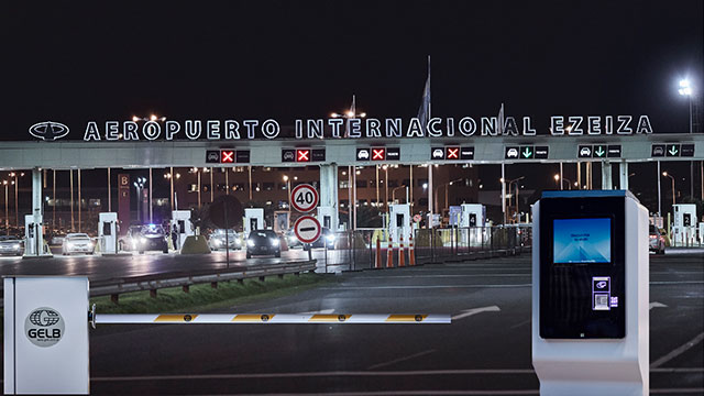 Apriclass-GELB Parking Access Control System at Buenos Aires' Ezeiza International Airport