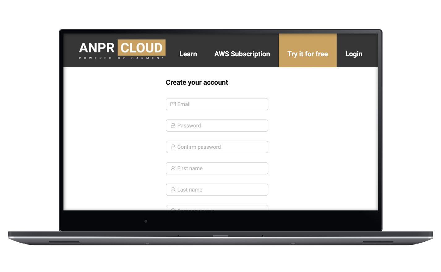 cloud anpr registration